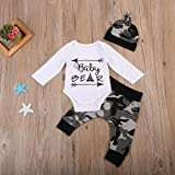 3PCS Newborn Baby Boys Cute Letter Print