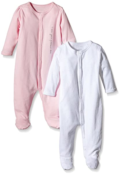 Pack of 2 TupTam Baby Girls Sleepsuit Without Feet
