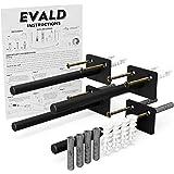 "EVALD The Original Floating Shelf Hardware – Heavy Duty Floating Shelf Bracket- 4X Floating Shelves Brackets ½"" Diameter, 8X"