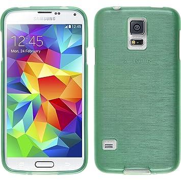 PhoneNatic – Carcasa para Samsung Galaxy S5 Mini Funda Silicona Verde Brushed Cover Galaxy S5 Mini Funda Case