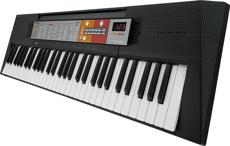 Yamaha PSR-F50 - Teclado electrónico (61 teclas, 2 altavoces integrados), color negro