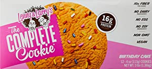 Lenny & Larry's - The Complete Cookie - Birthday Cake - 16g of Protein, 0g Trans Fat, No Soy, No Dairy, No Egg (4 oz, 12 Count)