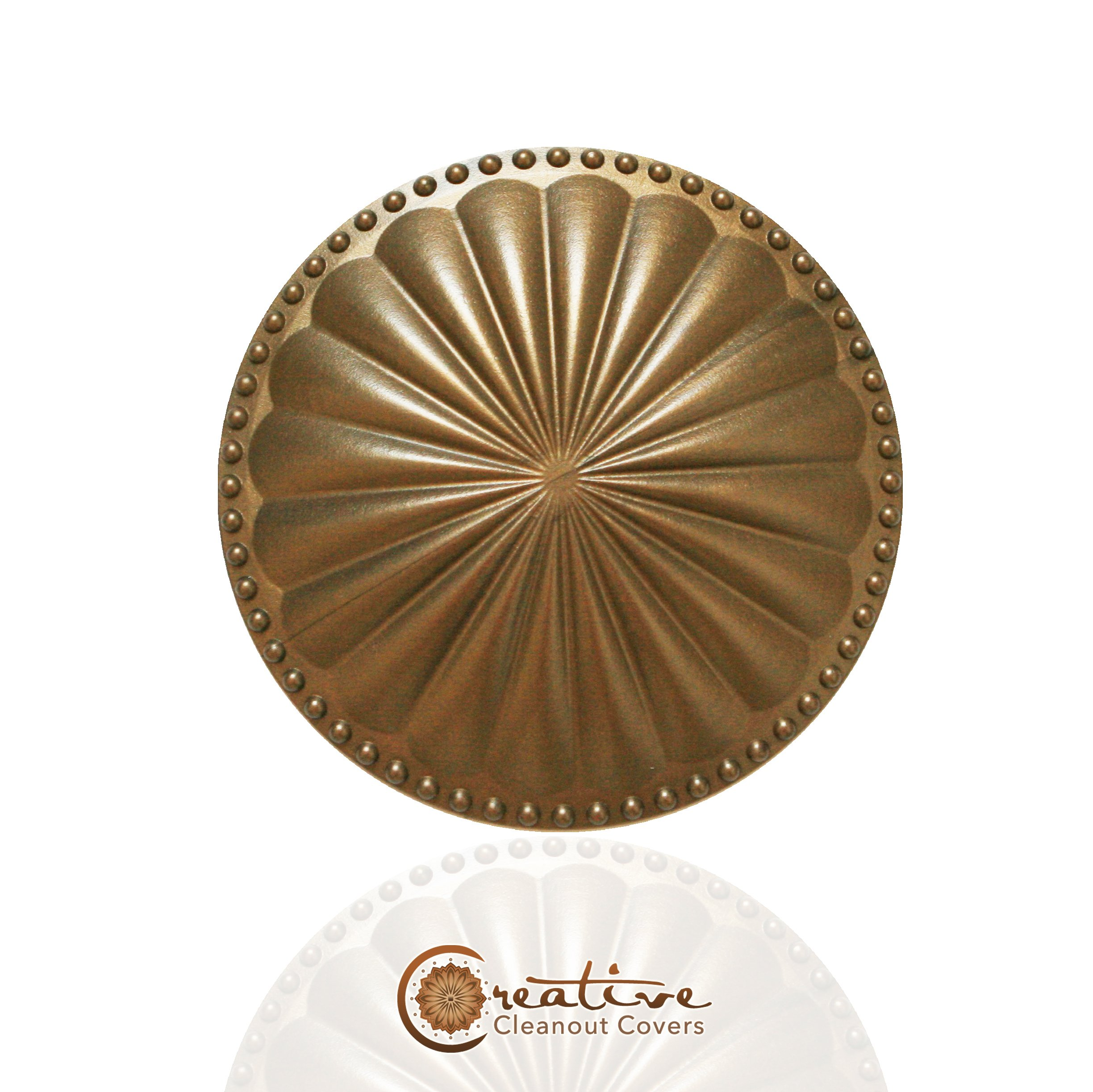 Laguna FLAT Cleanout cover, Glamour Gold
