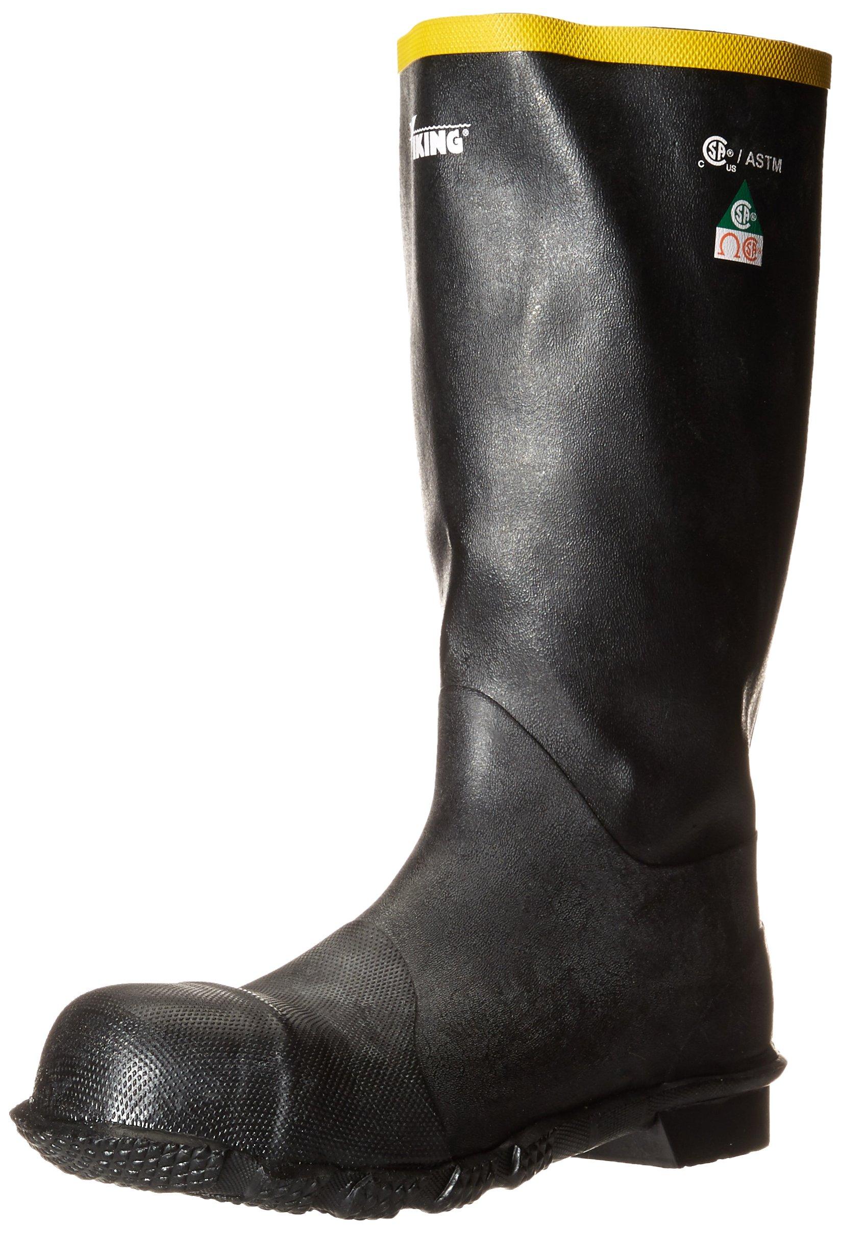 Viking Footwear Handyman Steel Toe Rubber Waterproof Boot, Black, 11 M US by Viking Footwear