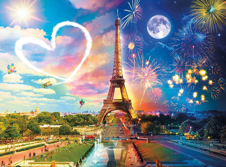 Buffalo Games - Day to Night - Paris Love - 1000 Piece Jigsaw Puzzle
