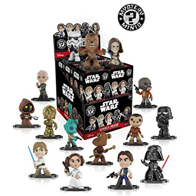 Star Wars Classic Mystery Minis Display Case of 12 Blind Box Bobble Head figures: Toys & Games