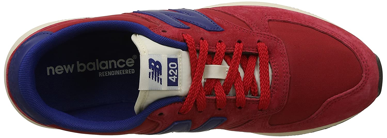 New Balance Herren Buty 420 Re-Engineered Suede Zehenkappen Grey/Red