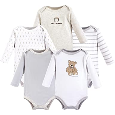9f40d90eda7b Amazon.com  Hudson Baby Long Sleeve Bodysuits 5PK  Clothing