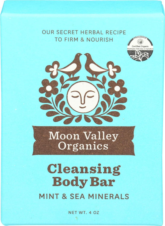 Moon Valley Organics, Soap Bar Mint Organic, 4 Ounce
