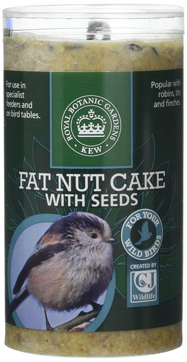 CJ Wildbird Foods Ltd Kew Wildlife Care Collection 500ml Fat Nut Cake with Seeds Tube 100200646