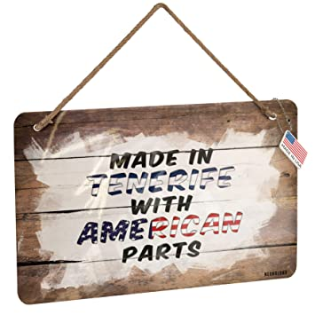 Amazon.com: NEONBLOND Metal Sign American Parts but Made in ...