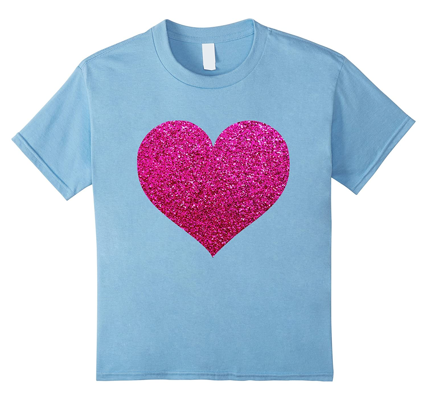 Glitter T Shirt Gift Valentines Day-Awarplus