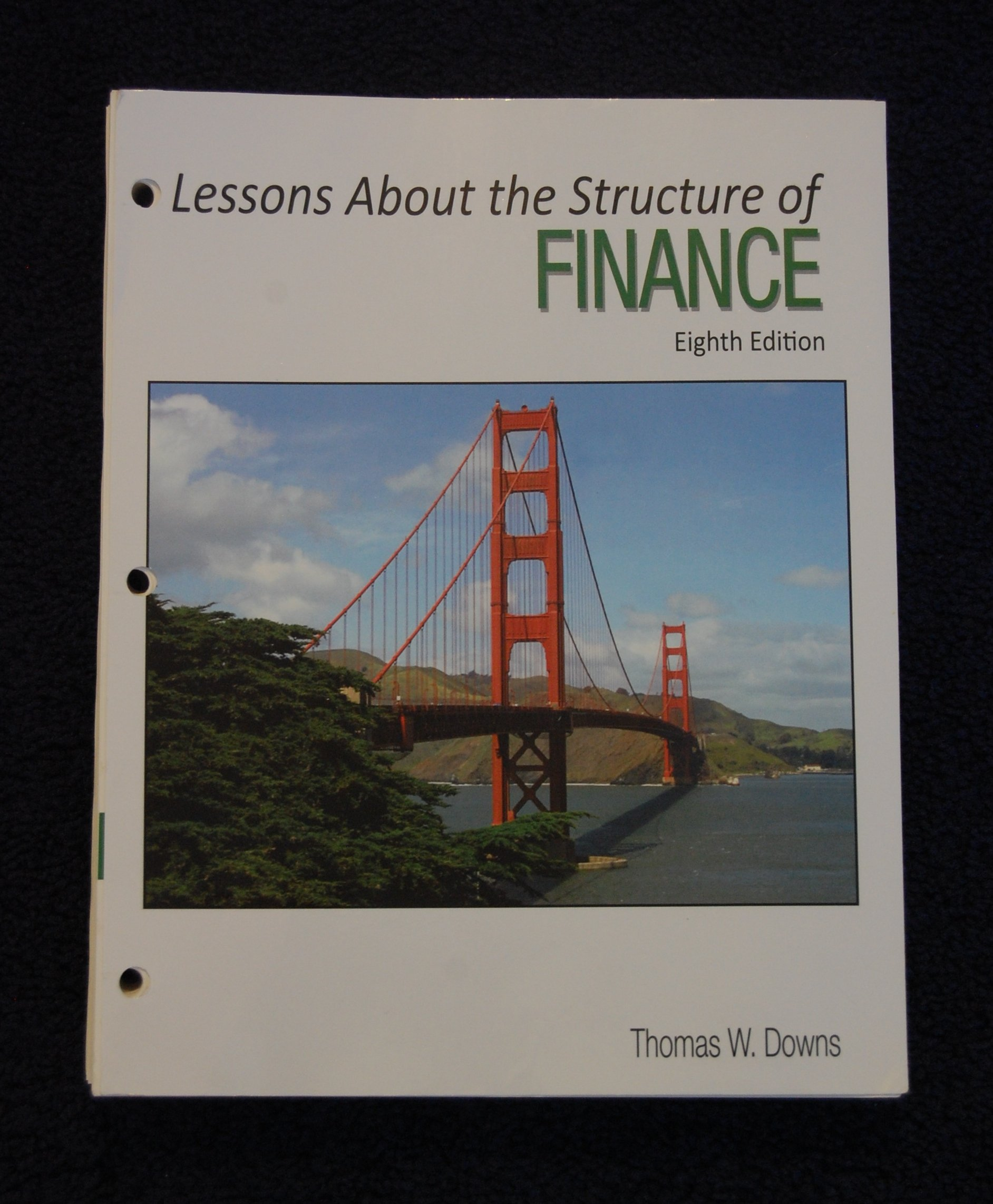 Read Online Lessons about the Structure of Finance pdf