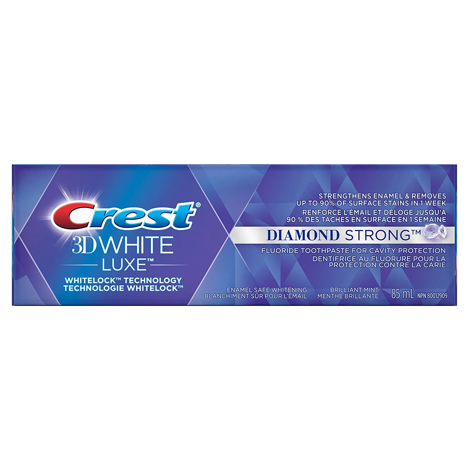 Crest 3D White Luxe Diamond Strong Toothpaste, 85 ml (Packaging May Vary)
