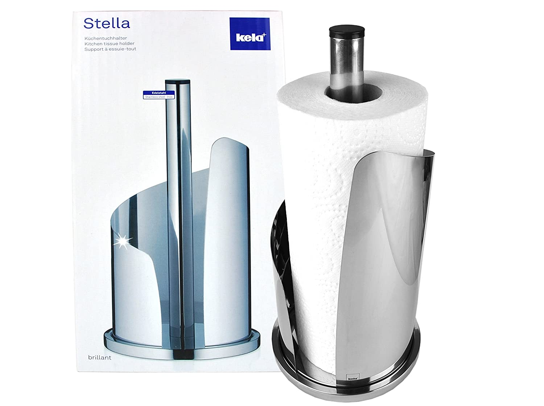 MamboCat Kela Küchenrollenhalter STELLA aus Edelstahl/Metall silber ...