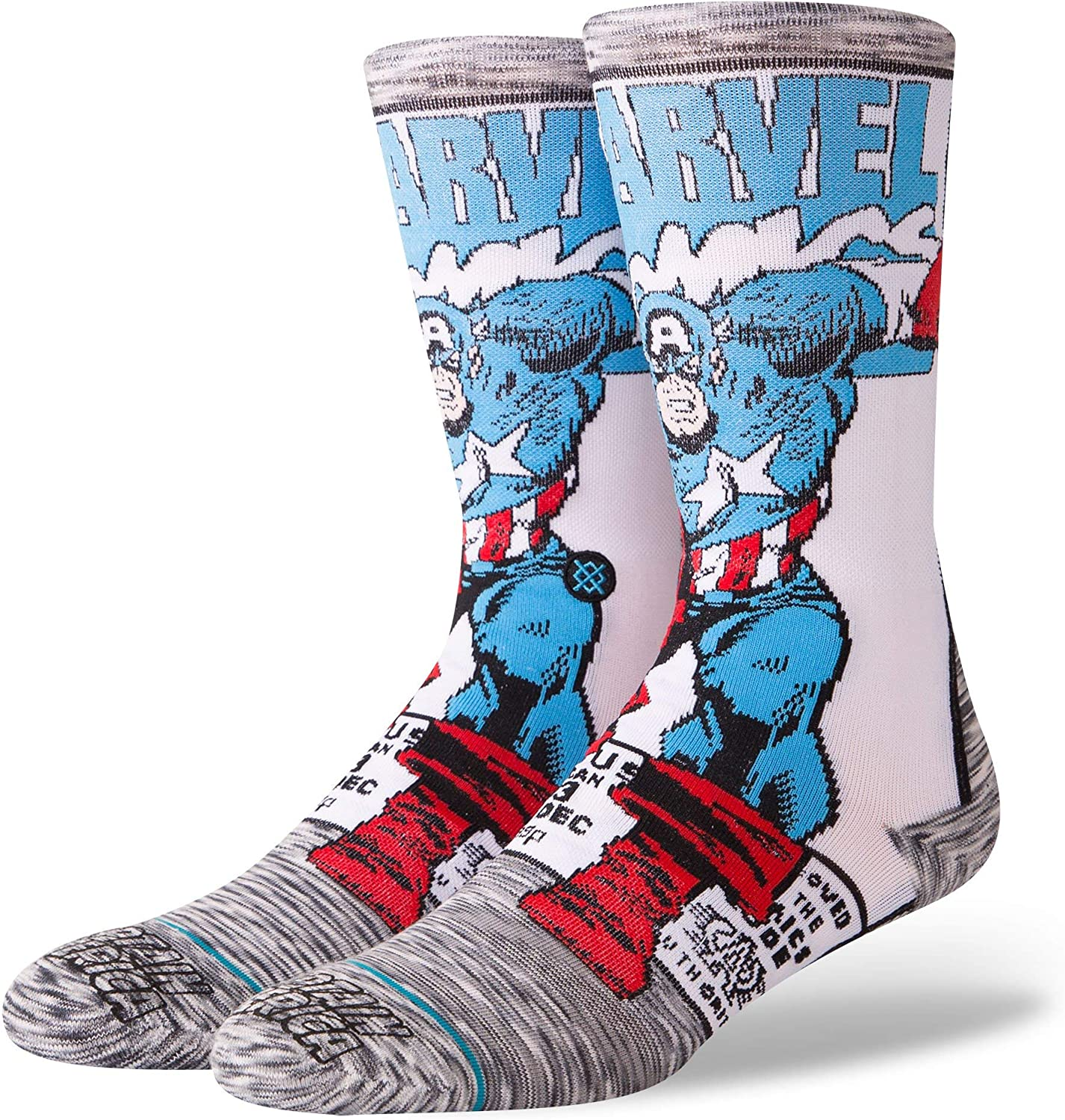 Stance Men's M546D18CAA Captain America Comic Sock