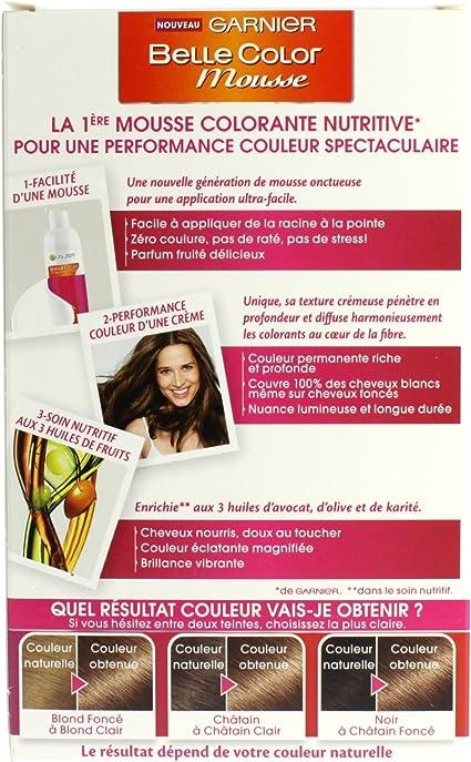 Garnier Belle Color – Espuma Coloración Permanente Castaño ...