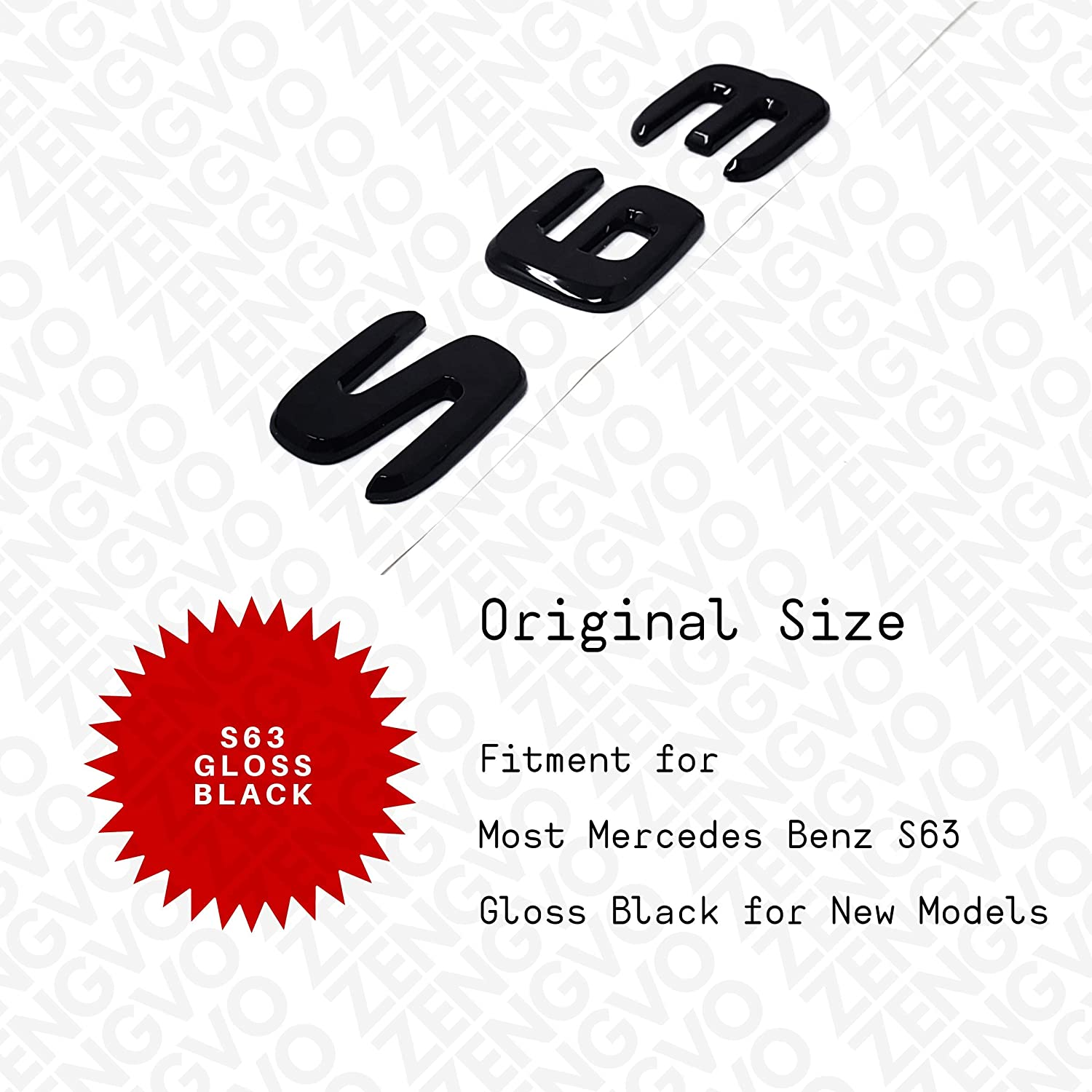 ZENGVO Car Emblem Badge Stickers Decals 3M Letters Logo Universal Fitment For BENZ AMG S63 NEW STYLE pack of 1 GLOSS BLACK CLA180 CLA200 CLA220 CLA250 CLA45 CDI // 4 MATIC AMG SPORT only glossy BLUE EFFICIENCY B160 B180 B200 B220 B250 ML250 ML350 ML400