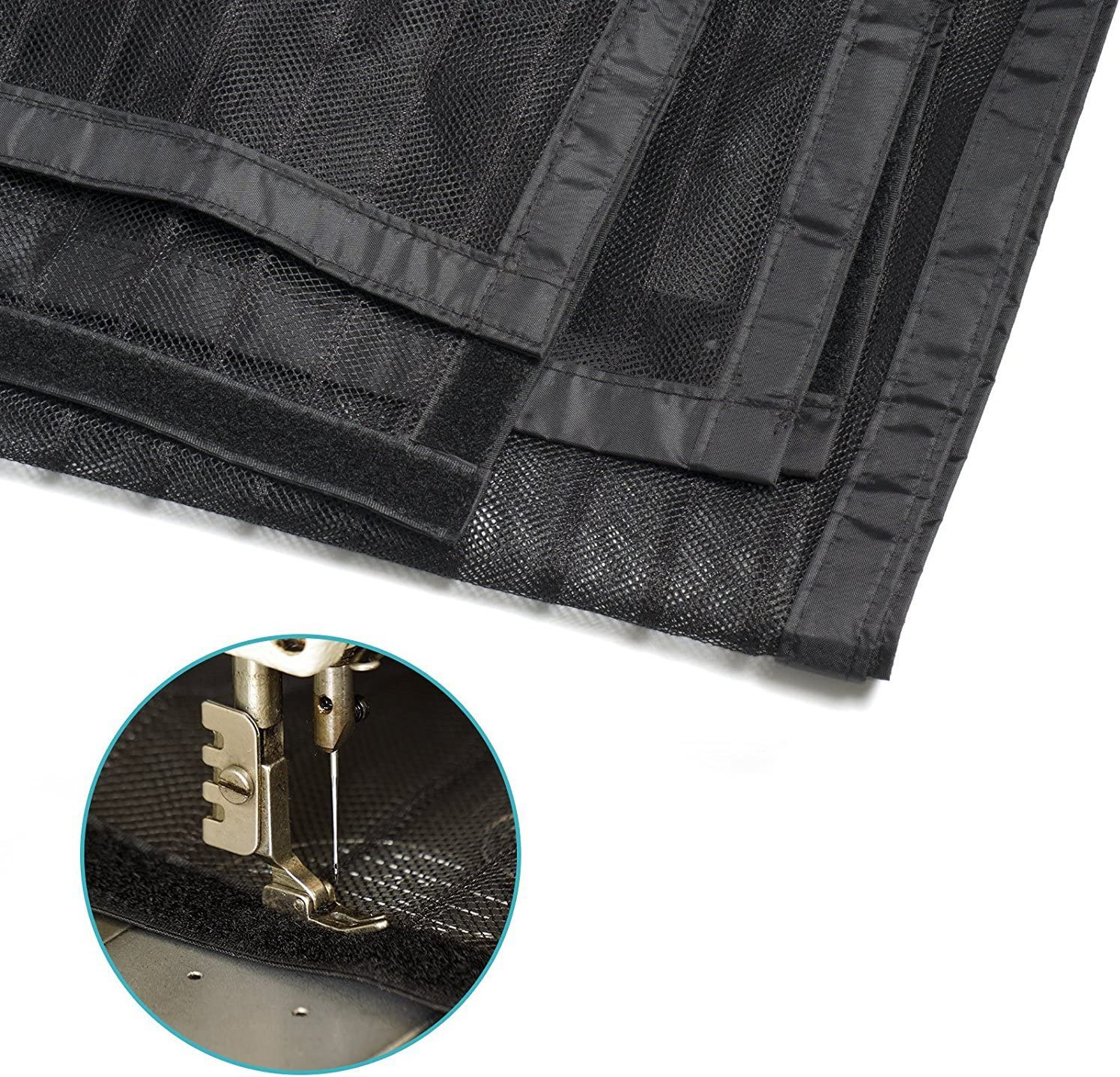 100x 210cm SIEGES Magnetic Screen Door Full Frame Velcro Magic Mesh Screen Net Anti-mosquito Curtain Insect Mosquito Bug Mesh Black