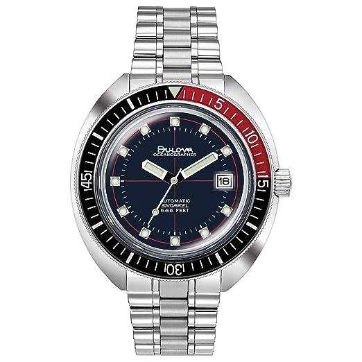 BULOVA 98B320 Devil Diver Special Edition Oceanographer - Reloj para Hombre: Amazon.es: Relojes