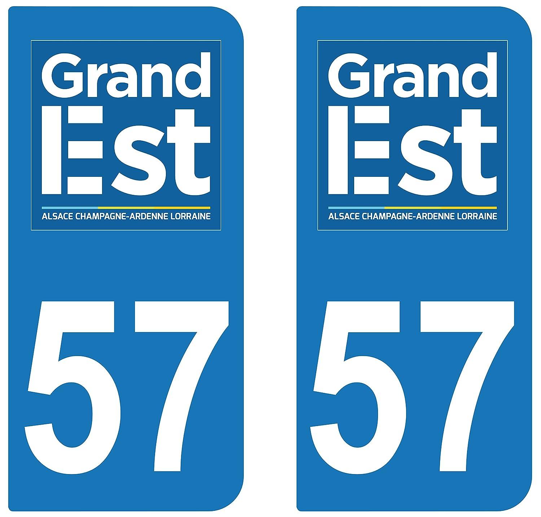 supstick 2 STICKERS AUTOCOLLANT PLAQUE IMMATRICULATION DEPT 57 Grand Est