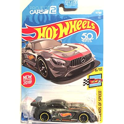 Hot Wheels 2020 50th Anniversary Legends of Speed '16 Mercedes AMG GT3 72/365, Gray: Toys & Games