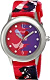 Red Balloon Red Balloon City Shopping Spree Tween Glitz Stainless Steel children's quartz Watch with white Dial analogue Display and purple fabric Strap W000359