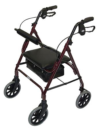 Amazon.com: Días 09 135 6328/105 andador de cuatro ruedas ...