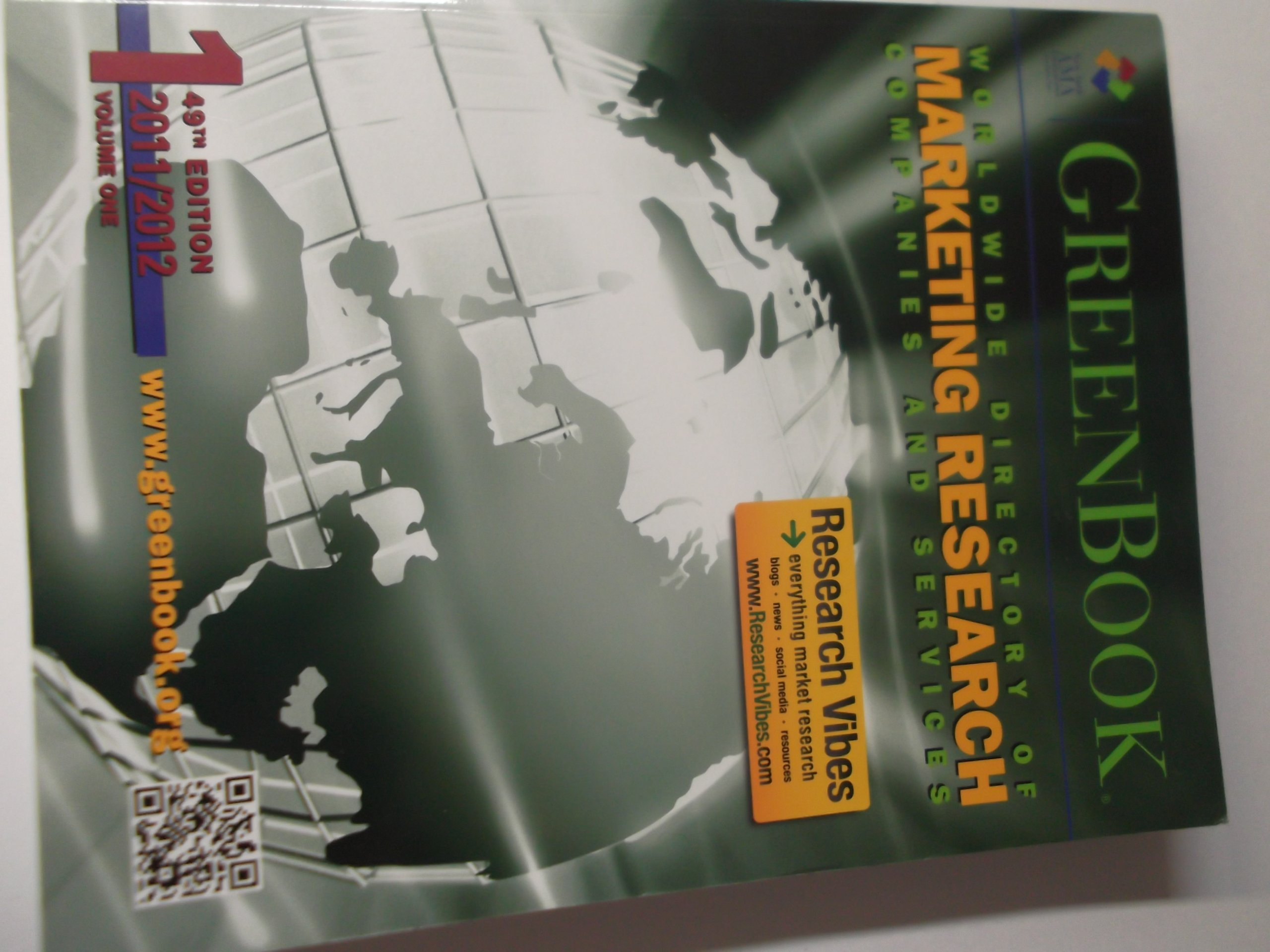 Read Online greenbook worlwide directory of marketing research companies and services volume 1 49th edition 2011/2012 PDF