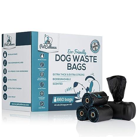 PetCellence Bolsas Caca Perro Biodegradable - 44 Rollos/660 ...