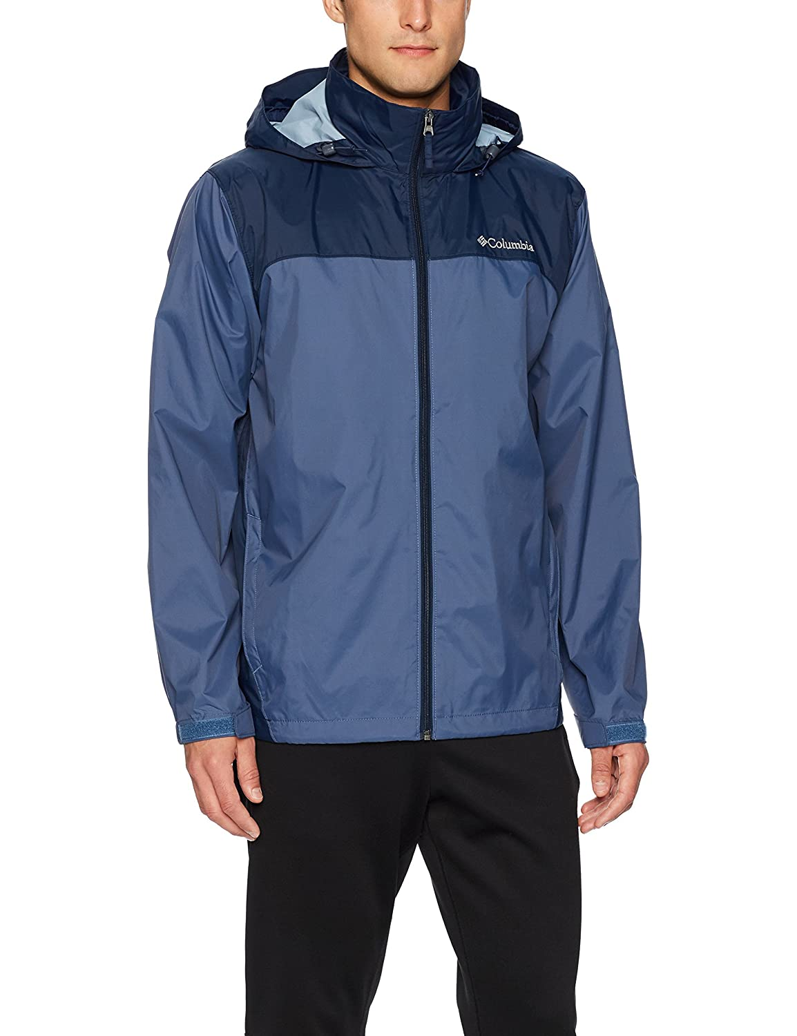 (コロンビア) Columbia GLENNAKER LAKE RAIN ジャケット RM2015 [メンズ] B01NAGEAF6 Large|Dark Mountain, Collegiate Navy Dark Mountain, Collegiate Navy Large