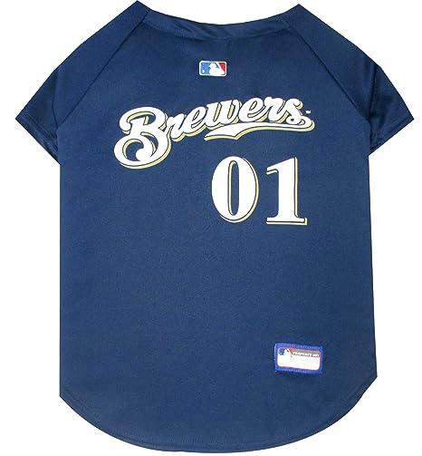 a35cc9d05 Amazon.com   MLB Milwaukee Brewers Dog Jersey