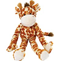 Multipet Swingin Safari Giraffe Large Plush Dog Toy with Extra Long Arms and Legs with Squeakers, 22-Inch