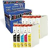 10x Cartucce d'inchiostro compatibili con Epson T071XL T0711 T0712 T0713 T0714 T0715 per Epson Stylus SX-215 SX-100 SX-209 SX-405WiFi SX-610FW DX-7450 DX-400 DX-4450 DX-9200 DX-9450 DX-4450 DX-7400 DX-9400F Office BX-3450F B-300F SX-600FW stampante Cartuccia