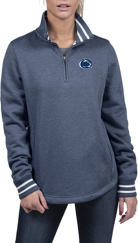 Top of the World NCAA Womens Premium Triblend Fleece 1//2 Zip Pullover