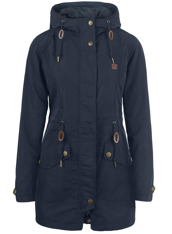 DESIRES Sakura Damen /Übergangsparka Parka /Übergangsjacke Lange Jacke mit Kapuze