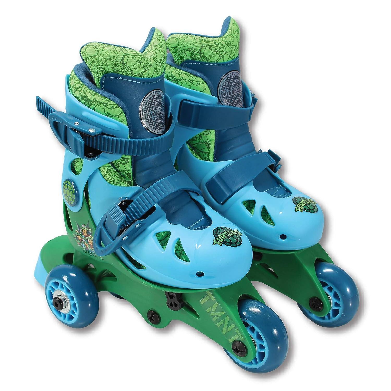 PlayWheels Teenage Mutant Ninja Turtles Convertible 2-in-1 Skates, Junior Size 6-9