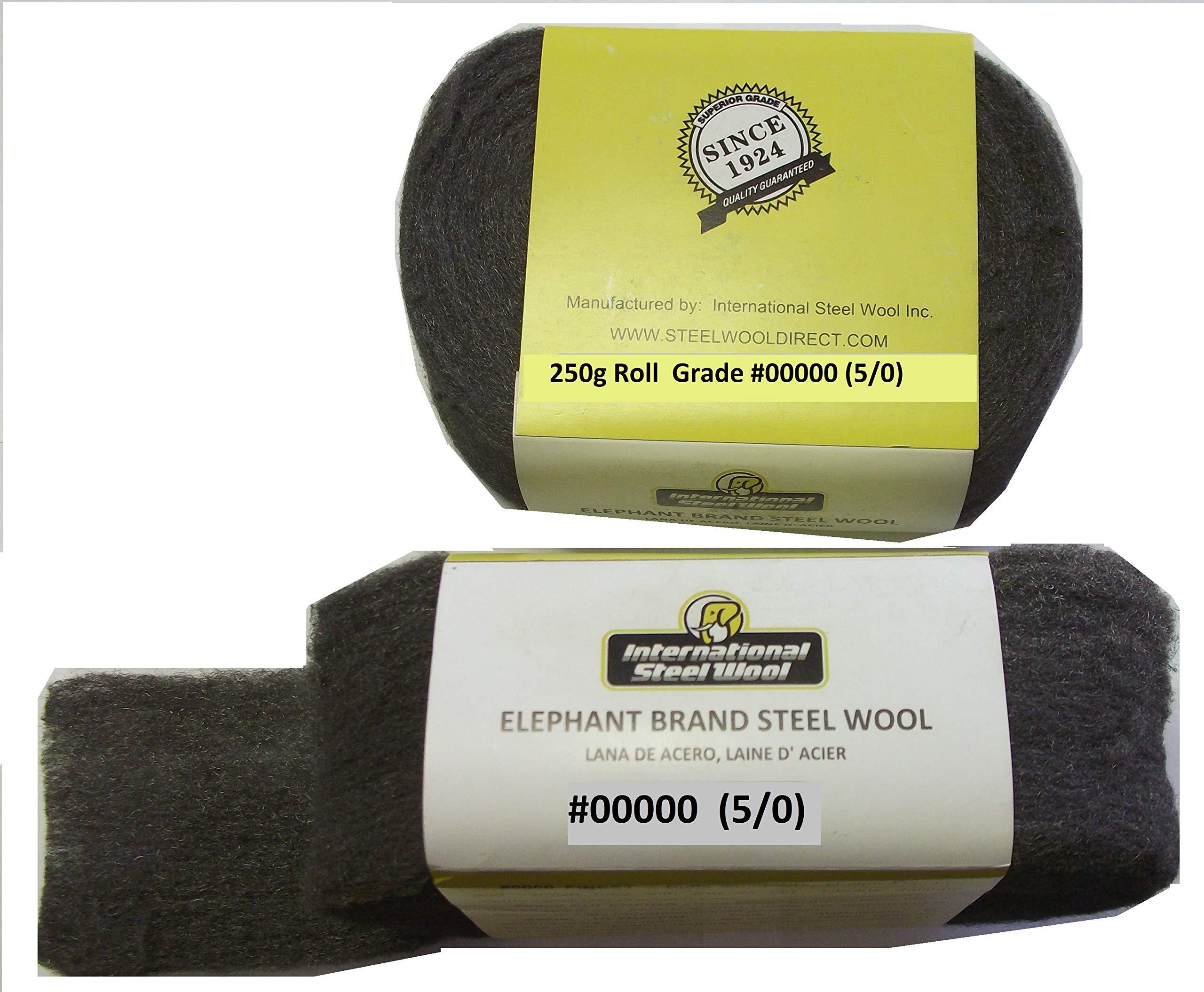 Elephant Brand #00000 Steel Wool, Professional Grade: 250g Project Roll by Elephant Brand