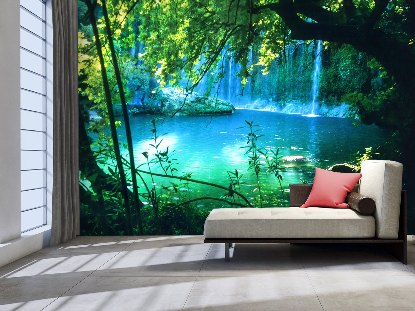 artgeist Photo Wallpaper Waterfall Nature 154''x110'' XXL Peel and Stick Self-Adhesive Foil Wall Mural Removable Sticker Premium Print Picture Image Design Home Decor c-B-0132-a-a by artgeist (Image #3)