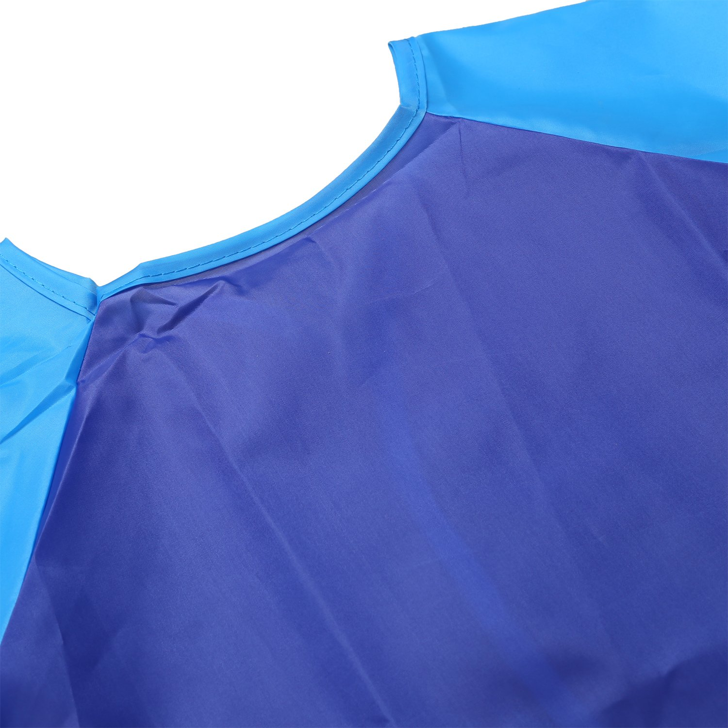 NEWSTYLE Childrens Art Smock Long Sleeve Waterproof Kids Painting Apron for School Classroom and Kitchen Blue