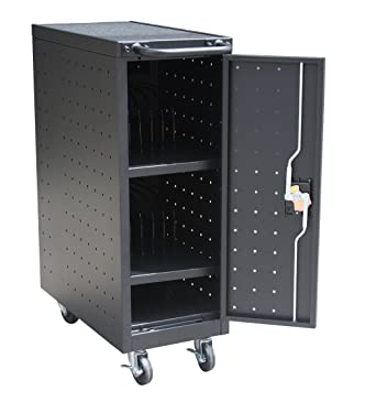 """Pearington 12TABLET-01 12 Bay Tablet and Computer Charging Cart, 39.9"""" Height,"""