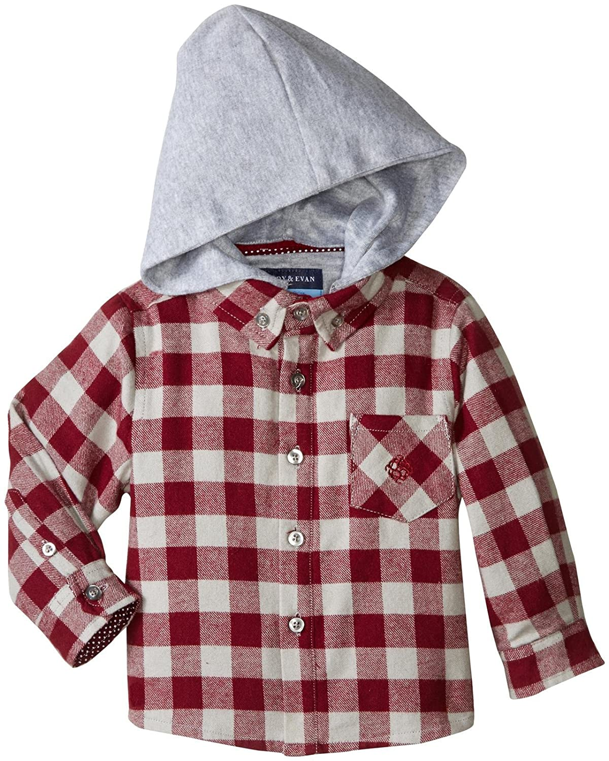 Andy & Evan Baby Boys' Hooded Check Flannel Shirt-Infant 26426A-RDH