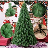 Artificial Christmas Tree 6 Feet Flocked Trees Pine Cone Decoration Unlit (6 Feet Upgrade)