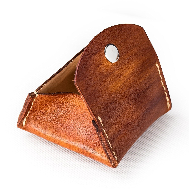 Amazon.com: Ancicraft suave cartera de piel auténtica cambio ...