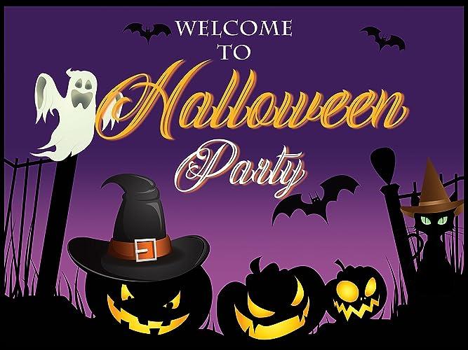 custom halloween poster sizes 36x24 48x24 48x36 halloween party banner happy halloween