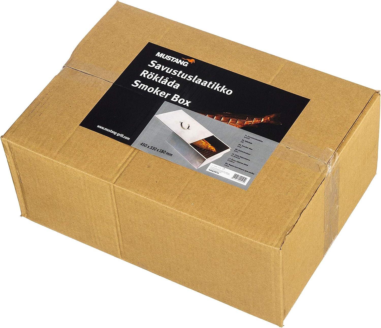 Contenitore per affumicatura Big /Ö Smoker Box Grillpaul Mustang 450 x 330 x 180 mm in Acciaio