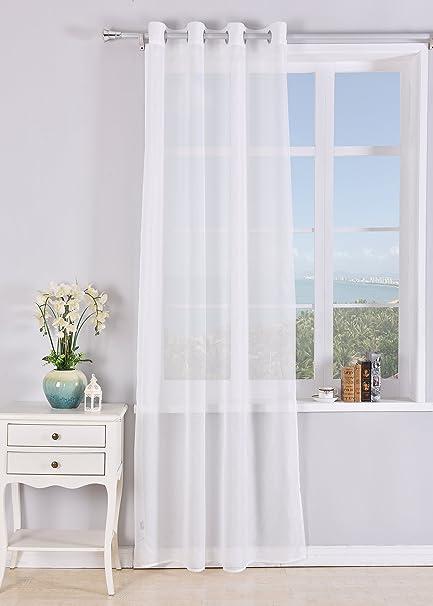 Tende trasparente con 8 OLLAO (1 pannello, 140 x 260) per soggiorno ...