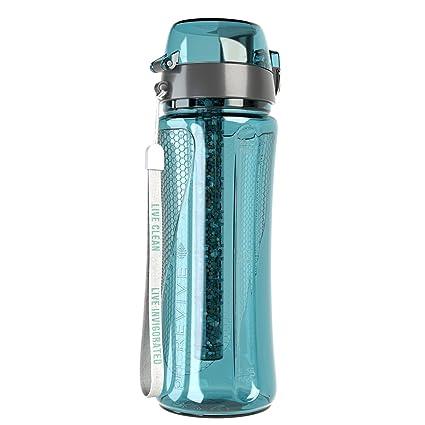 pH REVIVE - Botella depuradora alcalina portátil - Con funda para el transporte - Azul aguamarina