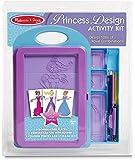Melissa & Doug Princess Design Activity Kit - 9 Double-Sided Plates, 4 Colored Pencils, Rubbing Crayon