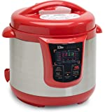 Elite Platinum EPC-808R Maxi-Matic 8 Quart Electric Pressure Cooker, Red (Stainless Steel)